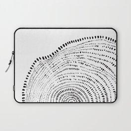 Tree Rings No. 2 Line Art Laptop Sleeve