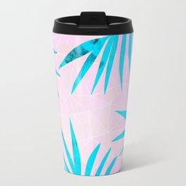 Refreshing Geometric Palm Tree Leaves Tropical Chill Design Travel Mug
