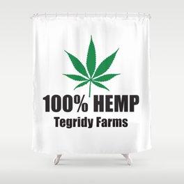 100% Hemp From Tegridy Farms Shower Curtain