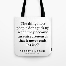 13   |  Robert Kiyosaki Quotes | 190824 Tote Bag