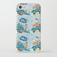 ski iPhone & iPod Cases featuring Ski Pattern by Christiane Engel