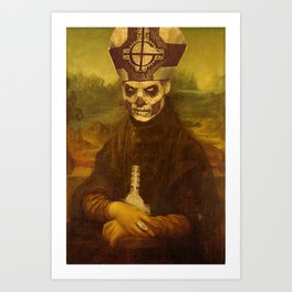 Monalich - Papa Emeritus crossover Art Print