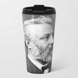 portrait of Jules Verne by Nadar Travel Mug