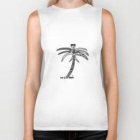 palm Biker Tanks featuring -PALM by It's Bananas Studio