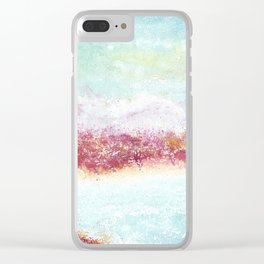 Paradise Watercolor Art Illustration. Clear iPhone Case