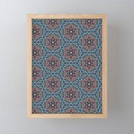 Boho flower damask all over print. Framed Mini Art Print