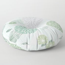 Abstract Floral by Friztin Floor Pillow