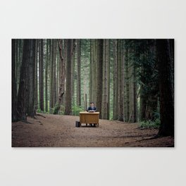 Busy at the Office Canvas Print