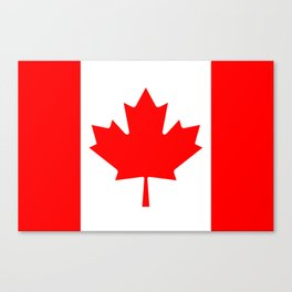 Flag of Canada - Authentic High Quality image Canvas Print