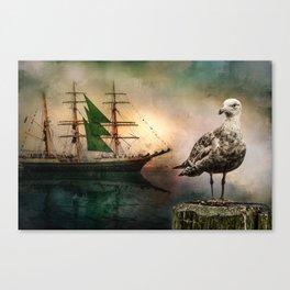 Harbor life Canvas Print