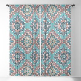 Native American Navajo pattern II Sheer Curtain