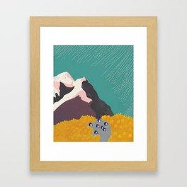 Little Mountain Village Framed Art Print