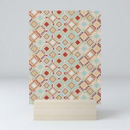Bohemian rombs Mini Art Print