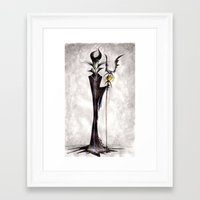 maleficent Framed Art Prints featuring Maleficent by Jena Sinclair