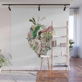 Vintage Botanical Heart Wall Mural