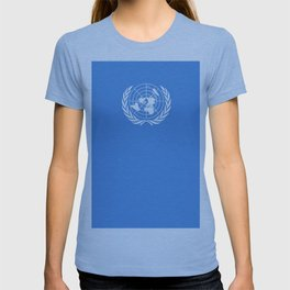 Flag on United nations -Un,World,peace,Unesco,Unicef,human rights,sky,blue,pacific,people,state,onu T-shirt