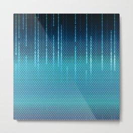 Blue Cyber Space Metal Print