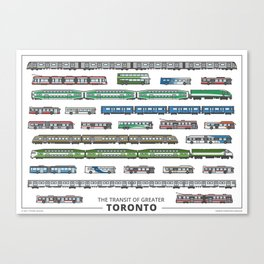 The Transit of Greater Toronto (small) Canvas Print