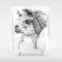 Wooly Llama Shower Curtain