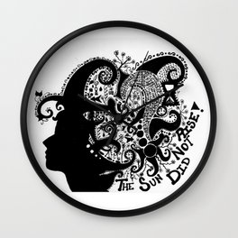Stormy Silence Wall Clock