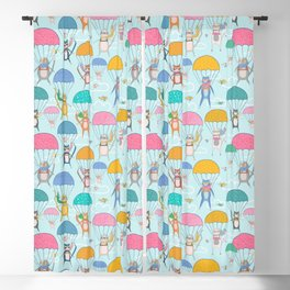 Skydiving Cats Blackout Curtain