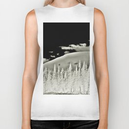 Abstract Dragon Clouds over Textured Mountain Forest Biker Tank