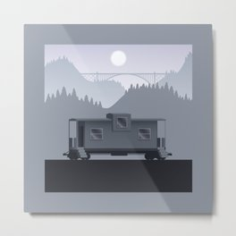 The Lonely Caboose Metal Print