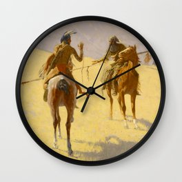 "Frederic Remington Western Art ""The Parley"" Wall Clock"