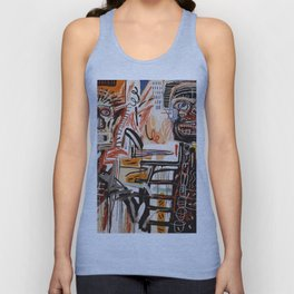 A vectorised Basquiat Unisex Tank Top