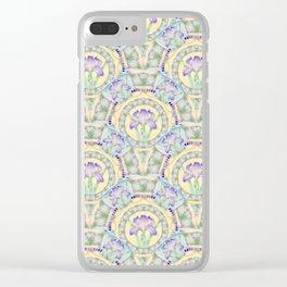 Iris Nouveau Clear iPhone Case