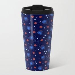 Blue Bell Anemone Metal Travel Mug