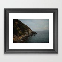 tuscany coast Framed Art Print