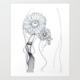 Flower Hair Art Print