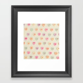 what does your heart say? Framed Art Print