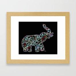 Princess Jewels the Elephant, Scanography Bling Framed Art Print