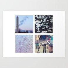 Squares #1: Berlin / Winter Art Print