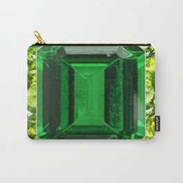 EMERALDS &  LIME GREEN PERIDOT GEMS BIRTHSTONES Carry-All Pouch