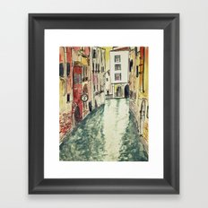 Venice in watercolour Framed Art Print