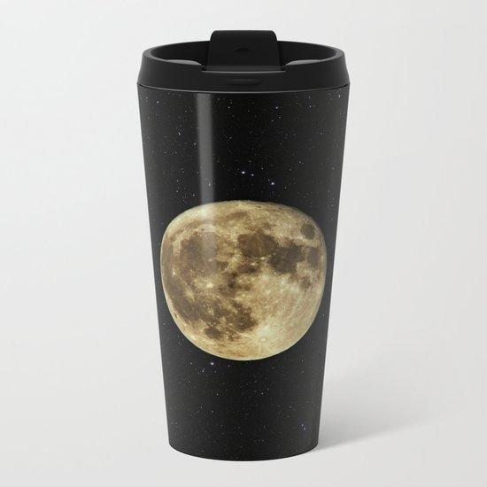 Moon and Stars Metal Travel Mug