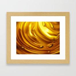 Amber Ripples 2 Framed Art Print
