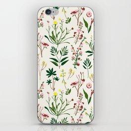 WILDFLOWER STUDY iPhone Skin
