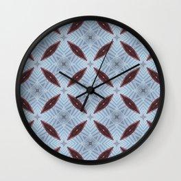 American Folk Red & Blue No. 07 Wall Clock