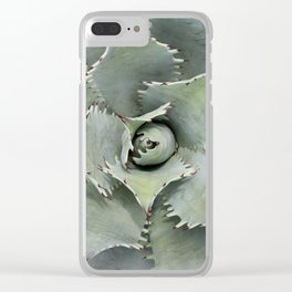 Saw-toothed Agave Clear iPhone Case