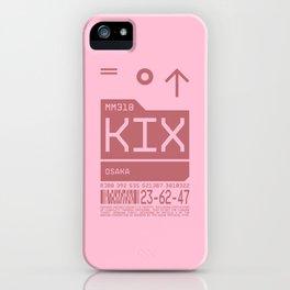 Baggage Tag C - KIX Osaka Kansai Japan iPhone Case