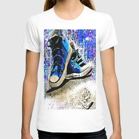 converse T-shirts featuring Converse Blues by Frankie Luna III
