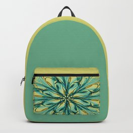 Swirly Flower Abstract 07 Backpack