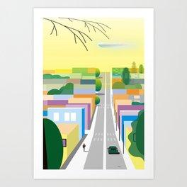 West Hollywood Art Print