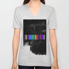 Colorful bar code Unisex V-Neck