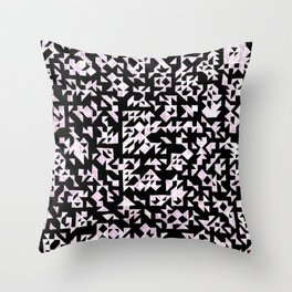 Inverted Black and White Randomness Throw Pillow