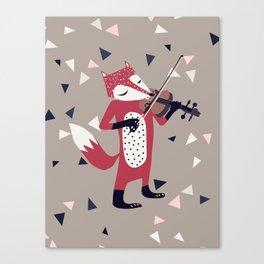 red foxy violinist Canvas Print